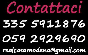 Contattaci Real Casa Modena
